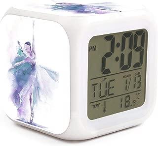 NMlesolg Ballet Girls Digital Alarm Clock,LED Digital Display,Electronic Small Alarm Clock for Bedroom