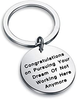 LQRI Coworker Leaving Gifts New Adventure Gift Congratulations On Pursuing Your Dream of Not Working Here Anymore Going Away Keychain Goodbye Gift for Friend Boss, Colleague Moving