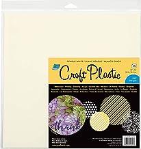 "Grafix Craft Plastic Sheets 12""X12"" 25/Pkg-Opaque White .010, Multi"