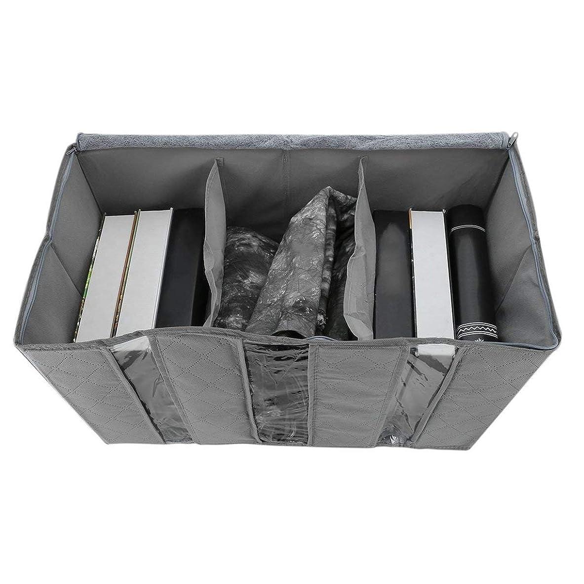 正規化プレフィックスアシスト65L収納袋ポータブルオーガナイザー不織布アンダーベッドポーチ竹服分類バッグ大容量家庭用品