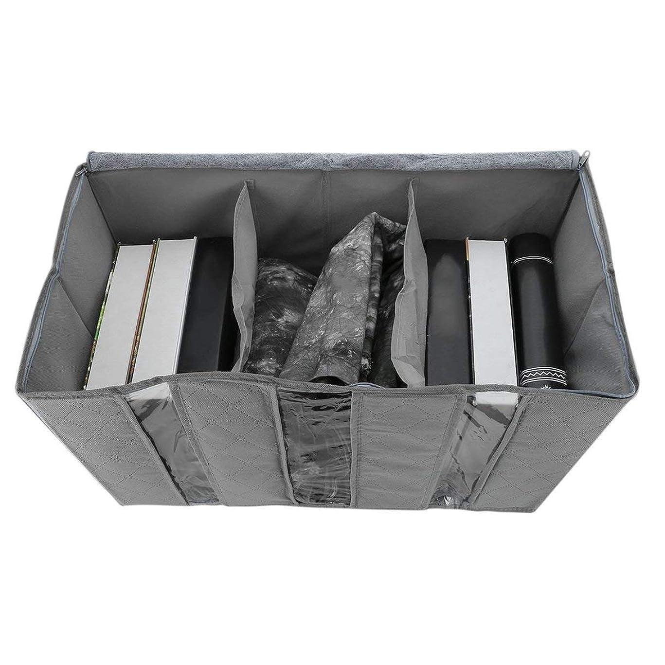 花弁非難揮発性65L収納袋ポータブルオーガナイザー不織布アンダーベッドポーチ竹服分類バッグ大容量家庭用品