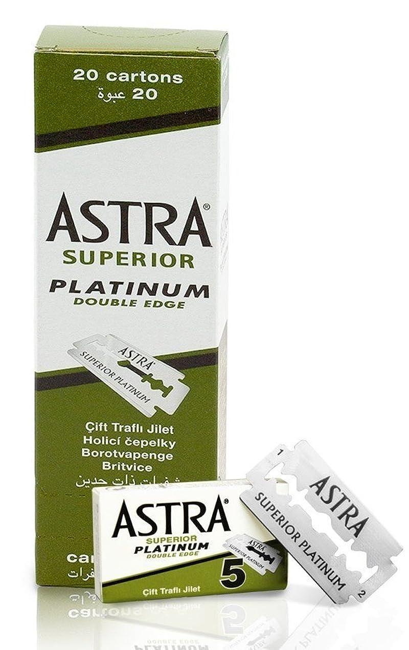 かび臭い大胆不敵仮定、想定。推測ASTRA Superior Platinum 両刃替刃 100枚入り(5枚入り20 個セット)【並行輸入品】