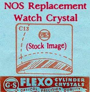 Elgin 21.4 X 15.9 NOS Flexo Replacement Watch Crystal CMX324-10