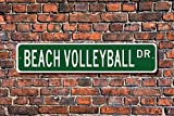 Metall Stree Schild Schild Beach Volleyball Beach