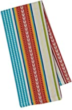 Design Imports Baja Cantina Cotton Southwest Table Linens, Dishtowel 18-Inch by 28-Inch, Baja Stripe