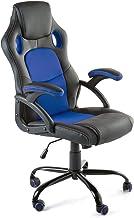 Home Heavenly®- Silla X-Gamer, de Oficina, sillón Gaming ergonómico, diseño de Oficina y despacho, Escritorio, con Ruedas (Azul)