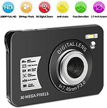 Digital Camera HD 1080P Vlogging Camera 30 MP Mini Camera 2.7 Inch LCD Screen Camera with 8X Digital Zoom Compact Cameras for Adult, Kids, Beginners