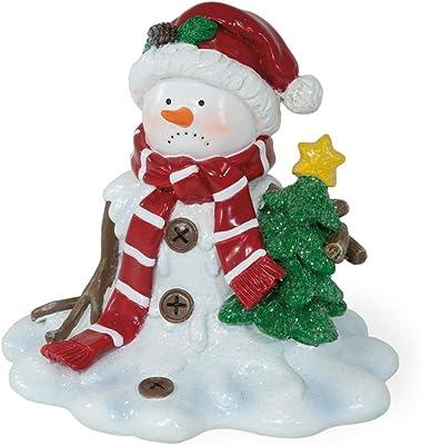Boston International Christmas Tabletop Melting Snowman Figurine, 5.5 x 5-Inches, Mr. Snowedinski