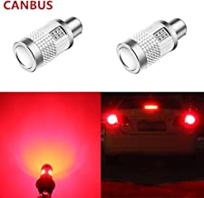 Alla Lighting Brightest CANBUS BA15S 1156 LED Bulbs 3000Lm High Power 3030 30-SMD 12V LED 1156 Bulb 21W 7506 1141 1156A LED Turn Signal Light, Pure Red (Set of 2)