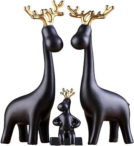 grandes ofertas Tres de la Familia Decoración de los Ciervos Ciervos Ciervos Adornos de gabinete de TV Creativa PanTalla del gabinete de Vino  precios mas bajos