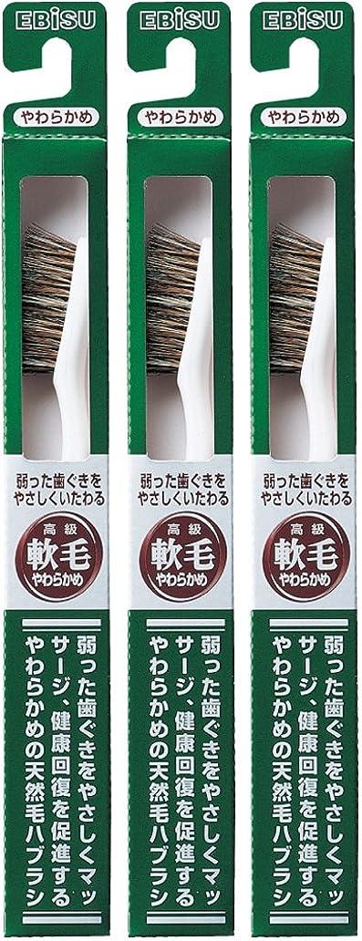 国際もちろん素人エビス 弱った歯ぐきをやさしくいたわる 軟毛 350ハブラシ  3本組
