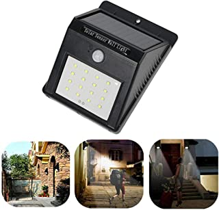 tooarts Rechargeable 1W 120LM 16 LEDs Solar Power Wireless Lamp PIR Human Motion Sensor & Light Sensor Wall Mount for Gard...