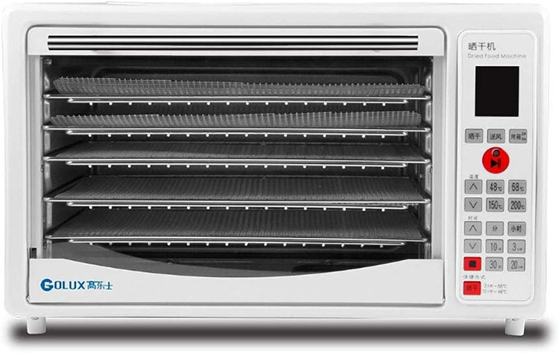 YiYi Fruit dryer Deshidratador de Alimentos Horno de máquina, 5 Rejillas de Secado de Acero Inoxidable, Conservador de Alimentos de múltiples Niveles, Control Digital de Temperatura en el Tiempo