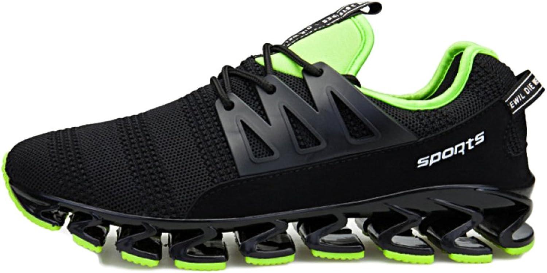 ASJUNQ Men's Running shoes Low Waist Mesh Breathable Movement,Blackgreen-42