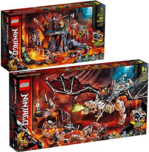 LegoNinjago Lego Ninjago - Juego de 2 piezas 71717 71721 de viaje a las calaveras + dragón del mago de la calavera