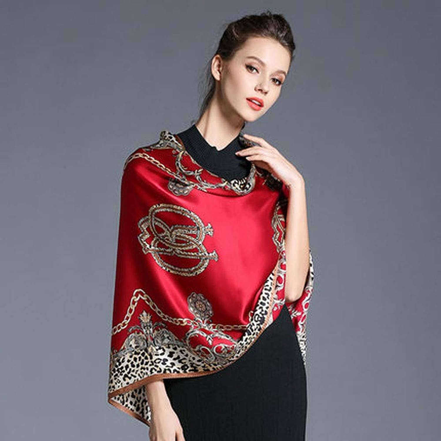 AINIYF Silk Scarf Square Scarf for Hair Women 100% Pure Silk Hand Rolling Edge Silk Twill Scarf for Women 70.87x25.6inches (color   A3)