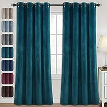 Velvet Curtains for Bedroom-Velvet Curtains 84 Inches Room Darkening Super Soft Luxury Velvet Textured Drapes Thermal Insu...