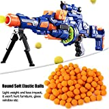 GLOGLOW 100pcs Rounds Refill Bullet Balls Soft Elastic Balls Compatible Replace Bullet for Rival Zeus Apollo Toy Children Kids Toy(Orange)