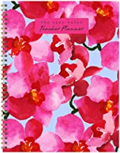 Large Floral Open Dated Weekly Teacher Planner Lesson Plan Book: July 2019 - June 2020 (Academic School Year)