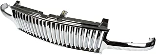 For Chevy Silverado/Tahoe/Suburban ABS Plastic Vertical Front Grille (Chrome) - 1st Gen GM GMT800