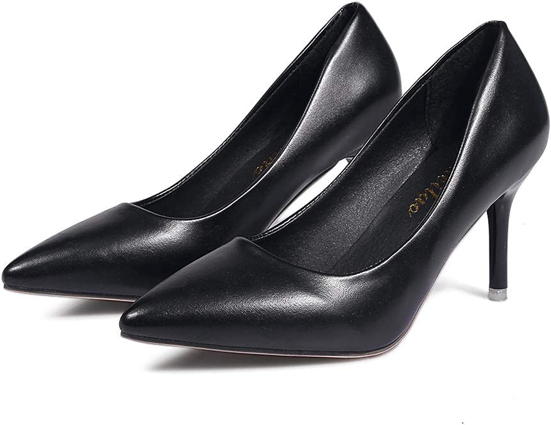 HOESCZS Frauen Schuhe Schuhe Einzelschuhe Frauen Herbst Flacher Mund High Heel Frauen Professionelle Arbeitsschuhe Spitz Hochhackige Schuhe Frauen  sehr berühmt