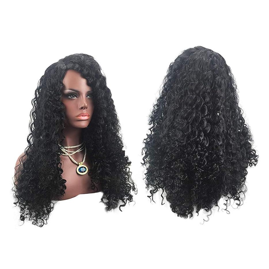 重力それスクラップ女性の黒髪ロングウィッグヨーロッパとアメリカのスタイルナチュラルルッキング絶妙な弾性ネットカーブウィッグカバー
