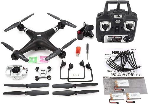 JohnJohnsen SH5HD FPV Drone RC Quadcopter avec 1080P réglable grand Caméra WiFi HD Angle Altitude Vidéo en Direct Tenir 3 Piles (Noir)