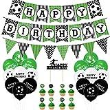 Big Boom誕生日 バルーンセット風船30個 Happy Birthday ワールドカップ サッカー バルーンセット 男の子 誕生日 パーティー 装飾セット