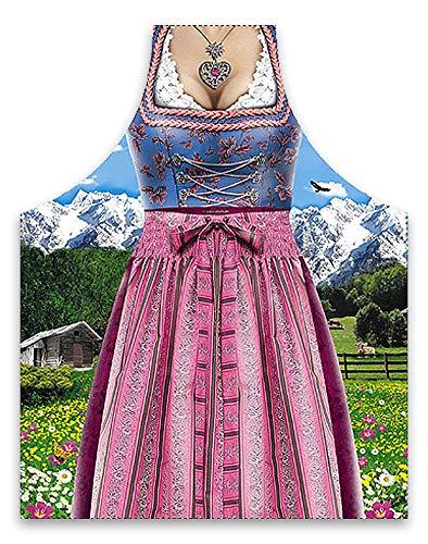 Lustige Schürze - Bayerische Frau im Dirndl