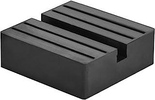 DEDC Bloque de Goma Forma Cuadrada Gato Jack Lift Pad Adaptador de Almohadilla de Elevación para Protector Vehículos Elevador Coche Negro 7,5x7,5x2,5cm (1pcs)