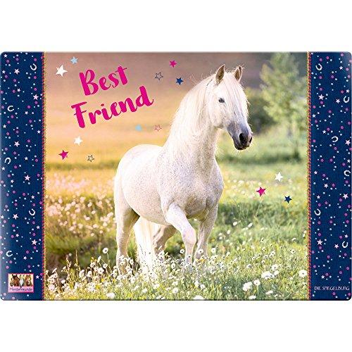 Spiegelburg 14567 Schreibtischauflage 'Best Friend' Pferdefreunde