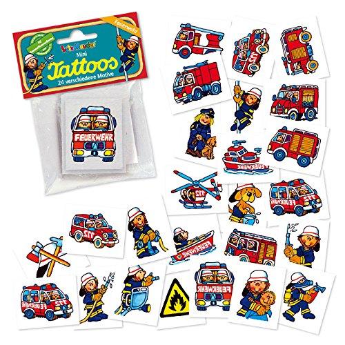 Lutz Mauder Feuerwehr Meister Benny Mini Tattoo Set (Einheitsgröße, 24tlg), 47301
