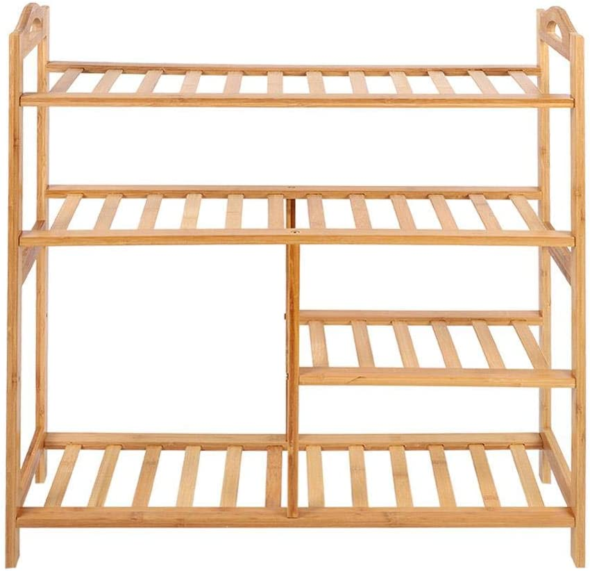 Shoe Cabinet -Four Direct sale Austin Mall of manufacturer Layer Rack Shelf Bamboo Storage