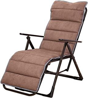 Xinrangxin Deck Chair Pad Cotton Pad, Removable Cushion Zero Gravity Chair Recliner Pad, Indoor, Outdoor, Office Lounge Chair Folding Cotton Pad, Folding Chair Terrace Recliner Mat