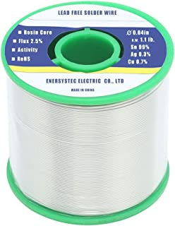 Solder Wire Lead Free Rosin Core Flux 2.5% 0.04in 1.1lb. Sn99 Ag0.3 Cu0.7 Flow for High Precision Electronics Soldering DIY Repair