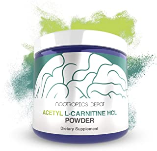 Acetyl L-Carnitine Powder   HCL Form   125 Grams   ALCAR   Amino Acid Supplement   Energy Supplement   Supports Mitochondrial Function, Weight Loss, and Healthy Aging