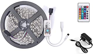 16.4ft LED Light Strip Smart WiFi Remote Control RGB SMD 5050 Color Changing Strip Light with DC12V 2A AU Power Supply, Co...