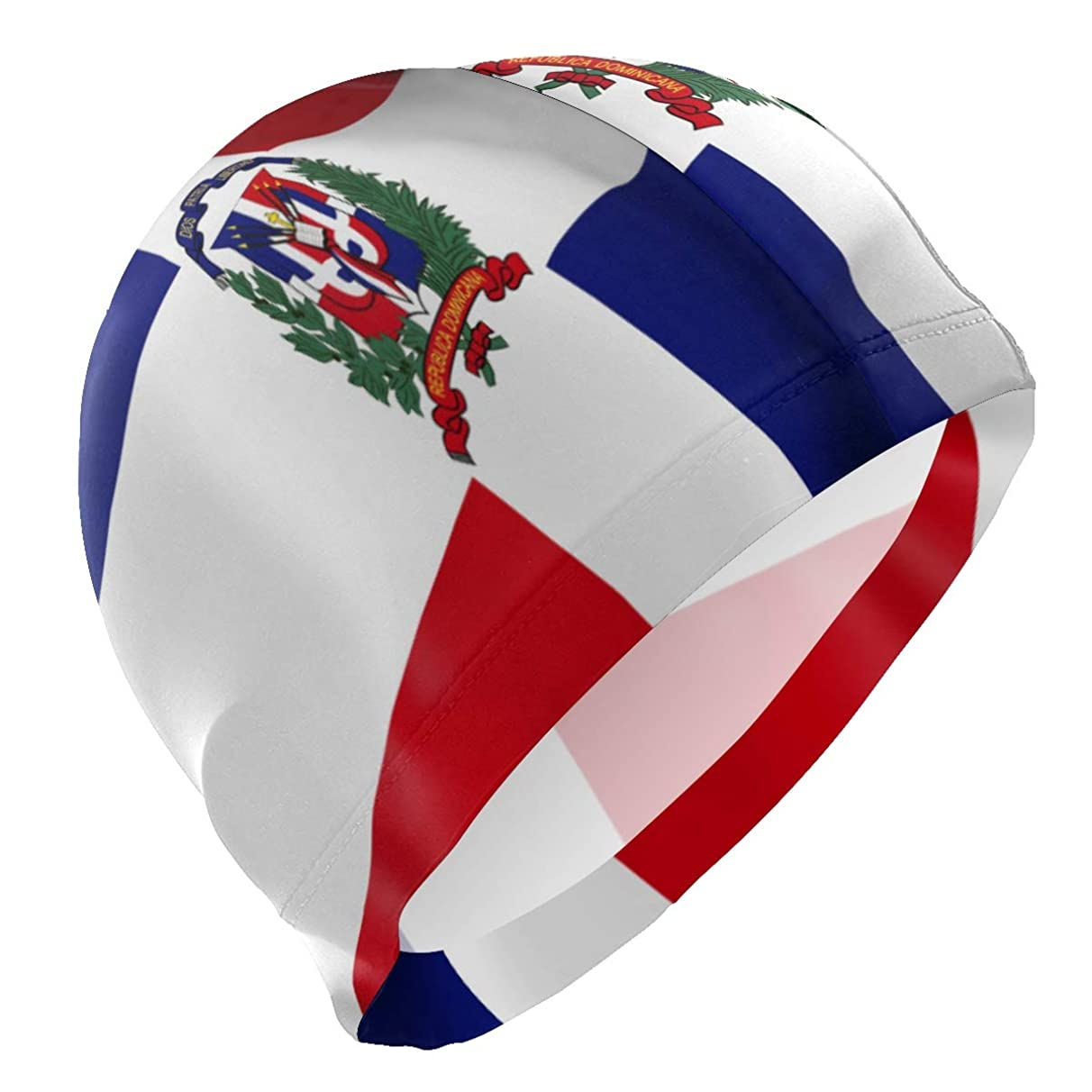 Swin Cap Dominican Republic Waving Flag Nose Clip Hat Comfortable Skin-Friendly for Adult Teenagers