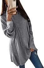 ouxiuli Women Sweatshirts Long Sleeve Button V-Neck Pockets Pullover Hoodies