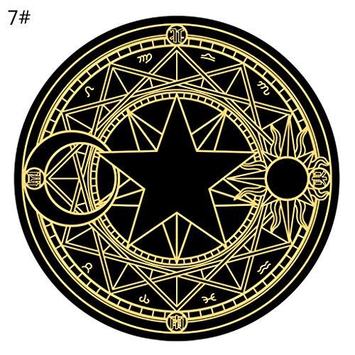 Haorw Tarot Rond Tafelkleed Diameter 60 Cm Pentagram Zon Maan Waarzeggerij Party Bordspel Tafel Pad
