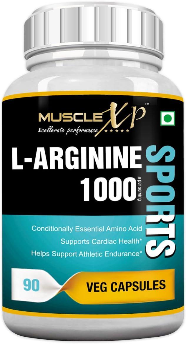 MuscleXP L-Arginine 1000mg for Manufacturer OFFicial shop Athletic Endurance - 90 famous Capsules