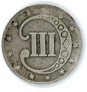 1853 Three Cent Silver Piece 3¢ VG