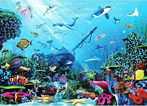 FDHGF Puzzle Adulto 1000 Piezas,Regalo de Juguete Juego Educativo para niños,Aventura submarina,Varios Patrones Soporte de personalización de imágenes.