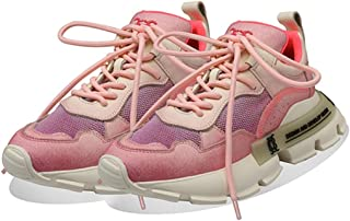 Running Shoes Spring New Retro Daddy Shoes Platform Women's Casual Shoes Girl Travel Sneakers (Color : Pink, Size : 5.5)