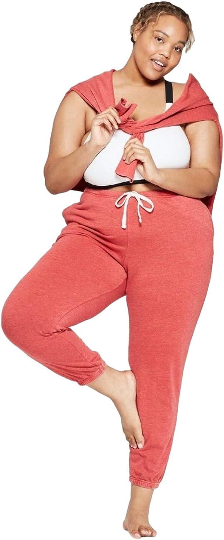 Colsie Women's Plus Size Fleece Lounge Jogger Pants