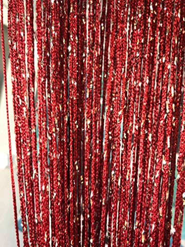 Vagasi 2pc tende a fili con paillettes 100 x 200 cm decorazione per studio finestra compleanno matrimonio hotel, Borgogna
