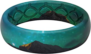 Groove Life - Silicone Ring for Men and Women Wedding Rubber Band with Lifetime Coverage, Breathable Grooves, Comfort Fit, and Durability - Thin Aspire
