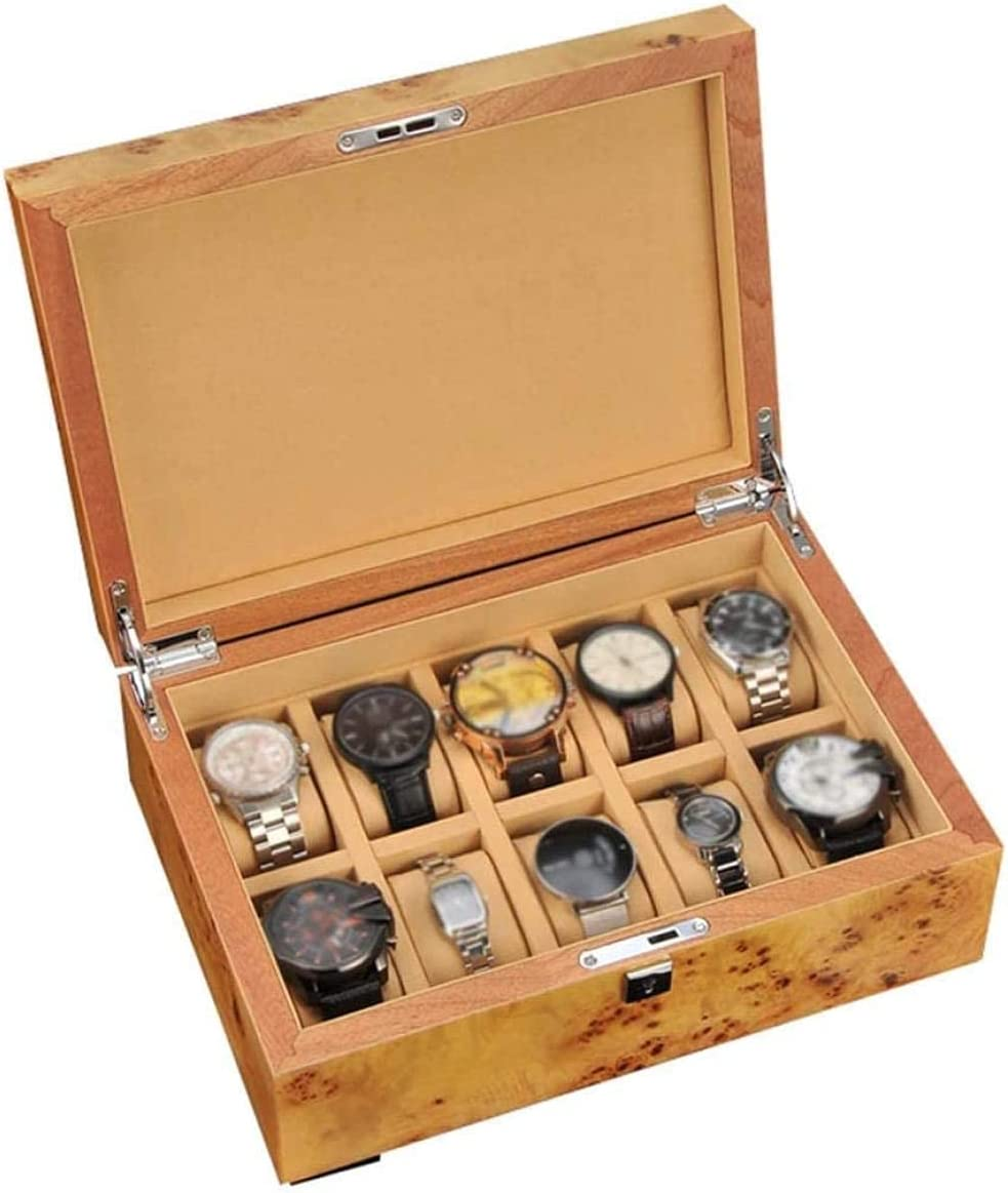 AMCCIC Animer and price revision Men's Women's Wooden Watch 10 Box Jewelry Regular dealer Slot