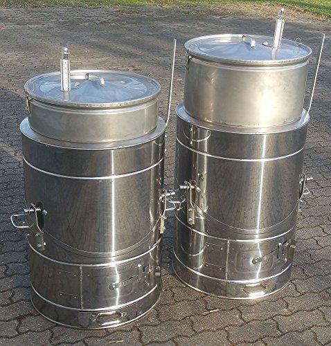 Land-Warenhaus 150 Liter Edelstahl - Koch- und Schlachtekessel mit Futterdämpferfunktion