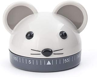 Kikkerland Kitchen Timer Mouse, Steel, Multi-Colour, 6.1 x 5.1 x 5.1 cm